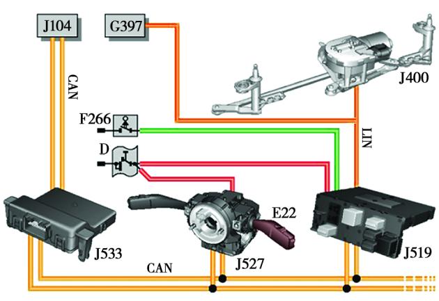 大众车刮水器控制系统的电路分析及故障诊断